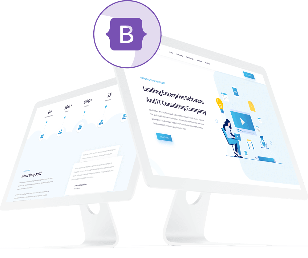bootstrap4 images
